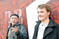 Xavier en compagnie de Vincent Burlot